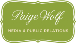 Logo for Paige Wolf Media & Public Relations