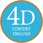 Logo for 4D Content English