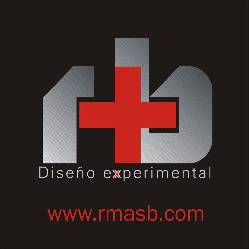 Logo for R+B Diseño experimental SAS
