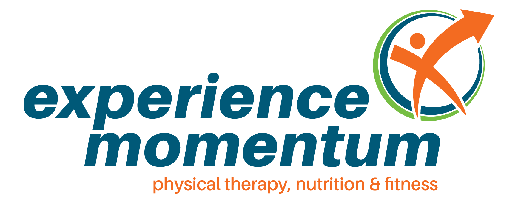 Logo for Experience Momentum Physical Therapy, Nutrition & Fitness