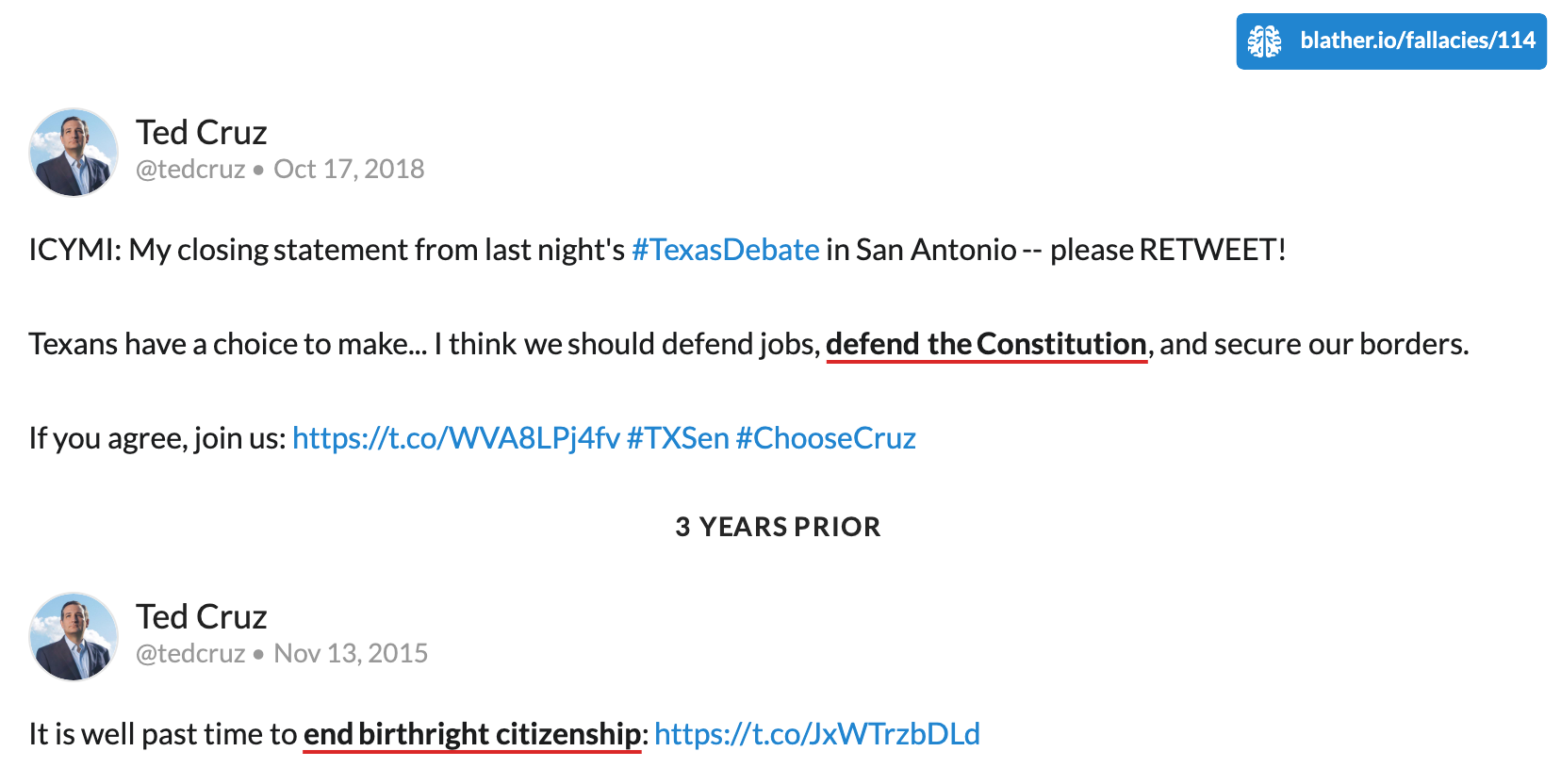 Doublethink by Ted Cruz