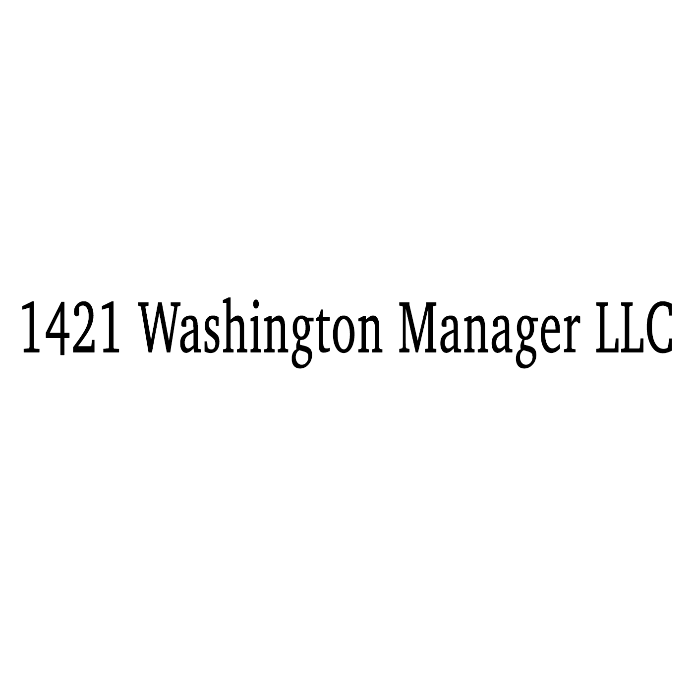1421 washington manager llc