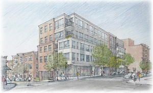 The stonybrook 3193 washington street jamaica plain boston residential retail project city real estate development corporation embarc studio architect rendering