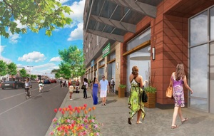 Bldg 89 brighton avenue allston boston apartments retail transit oriented mbta bike eden properties development prellwitz chilinski associates architect rendering 1