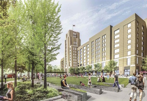 Landmark center open space rendering 3 31 17