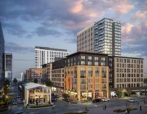 Block 8 assembly row luxury apartments retail somerville mbta orange line federal realty stantec
