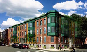Maverick shipyard apartments east boston waterfront maverick square newman properties residential condominium development project hresko architects rendering