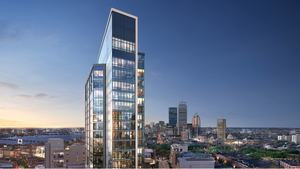 Pierce boston fenway point samuels associates weiner ventures landsea residential retail development john moriarty associates s f concrete j derenzo companies construction arquitectonica cbt architects rendering
