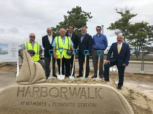 Harborwalk groundbreaking team delphi