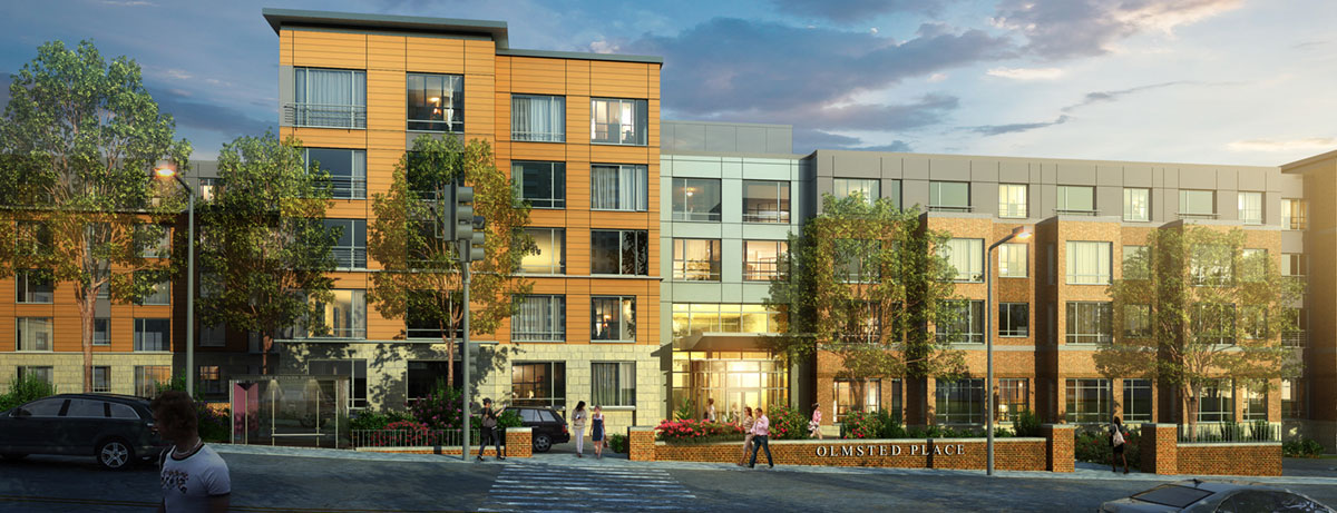 Olmsted place apartments jamaica plain longwood medical area now leasing