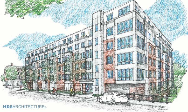111 cypress street brookline apartment development hds architecture rendering