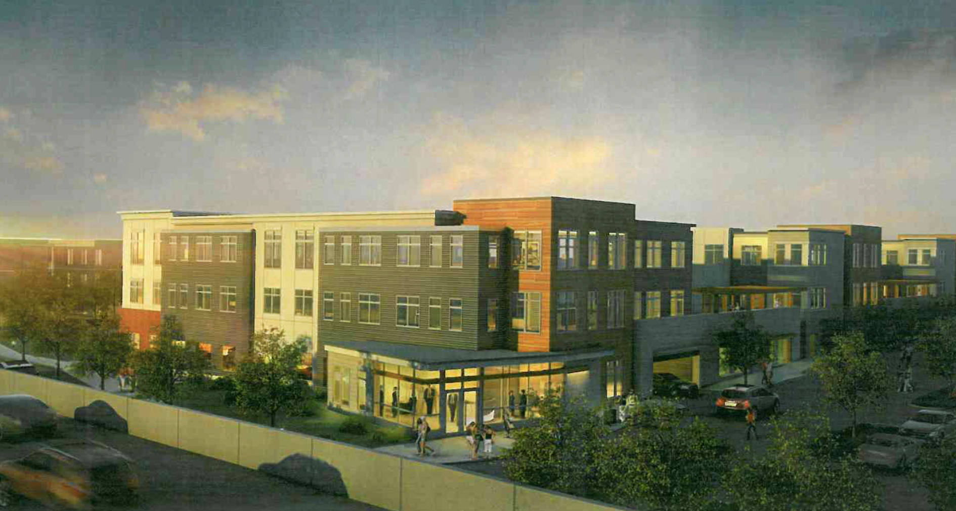60 70 cross street stop and shop east somerville mcgrath highway young construction residential development project vhb cube3 studio architectural rendering