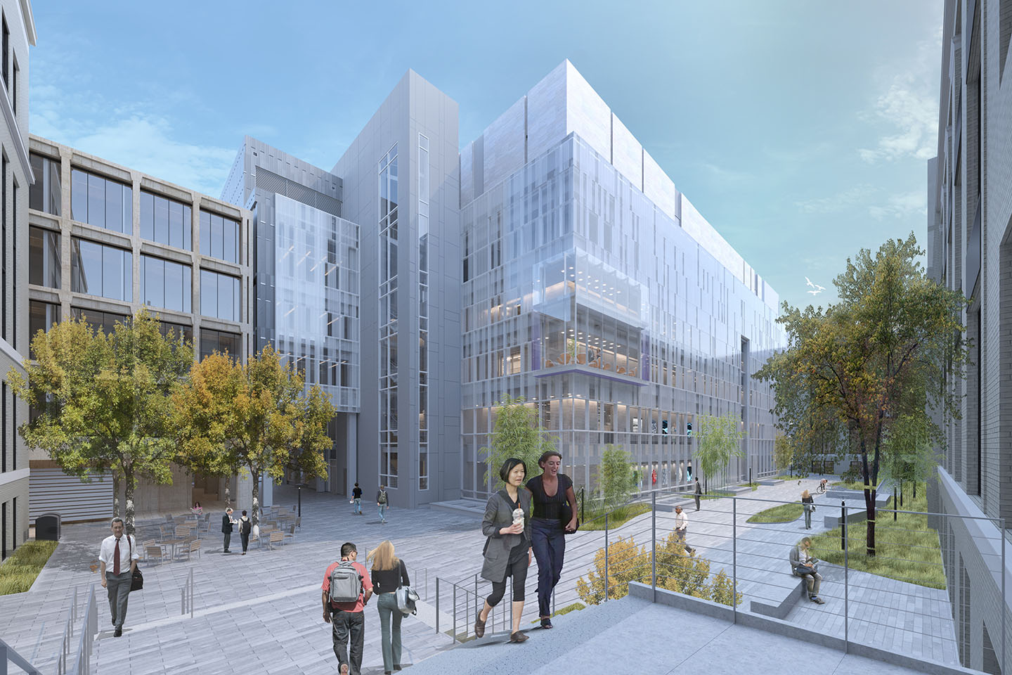 Mit nano kendall square cambridge boston real estate office development construction preservation project turner construction wilson architects architectural rendering