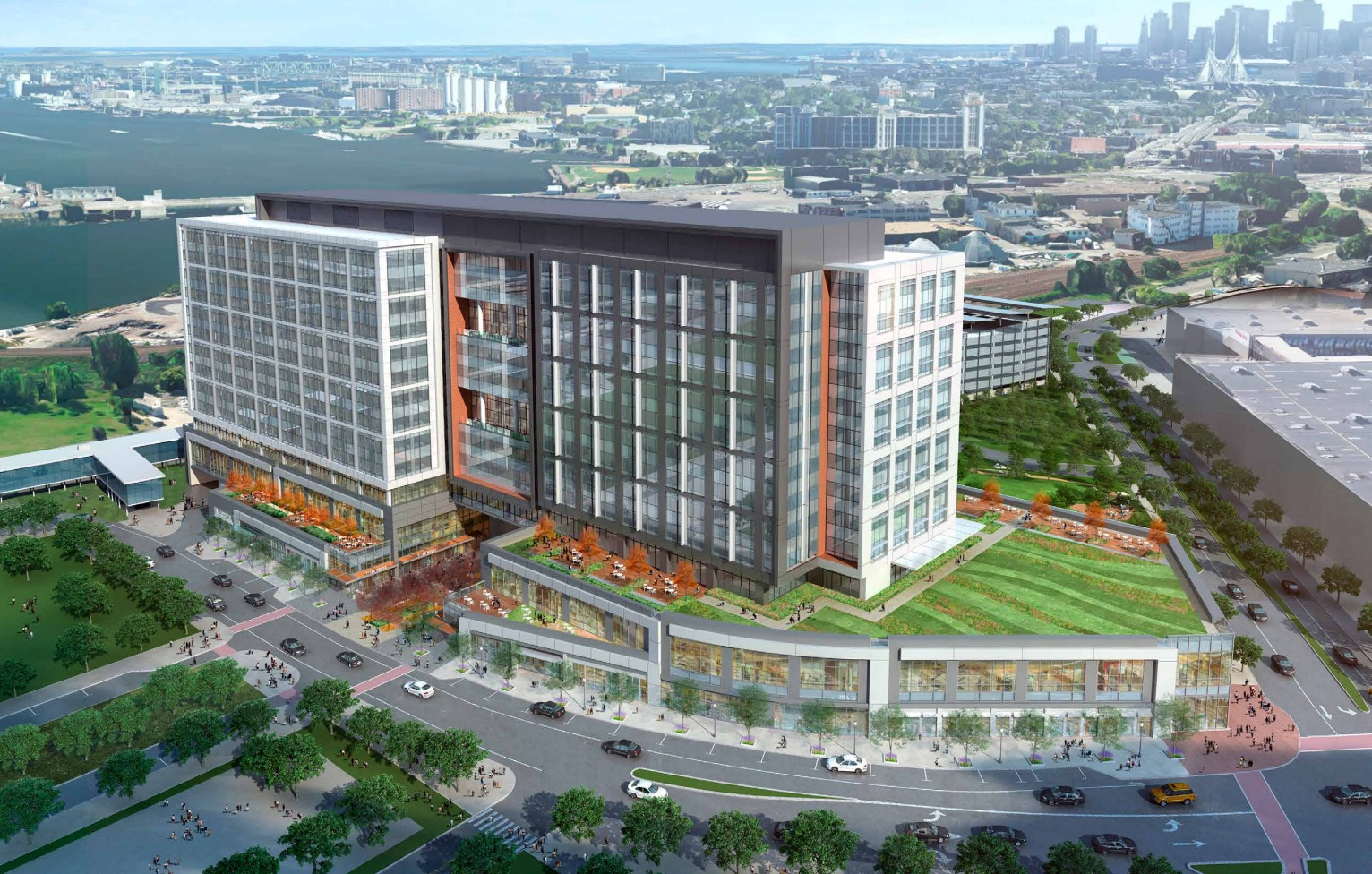 Partners healthcare headquarters assembly row 399 revolution drive somerville federal realty investment trust gensler