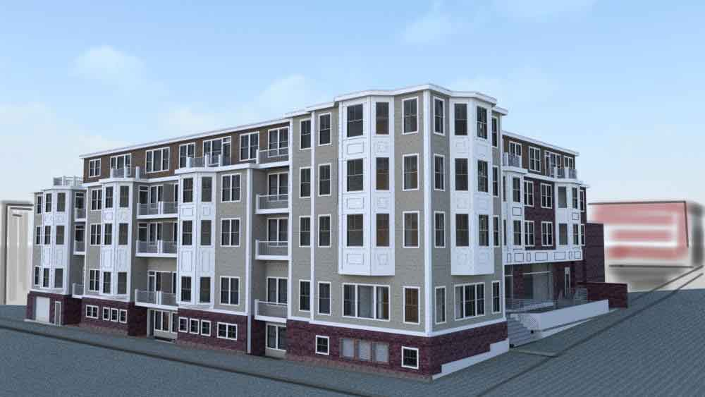 Residences at 245 sumner street residential development east boston velkor realty trust kneeland construction