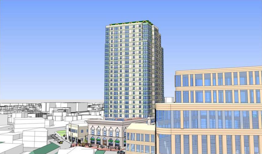 Rio grande dudley square tower roxbury development project residential retail office long bay management stull lee architectural rendering