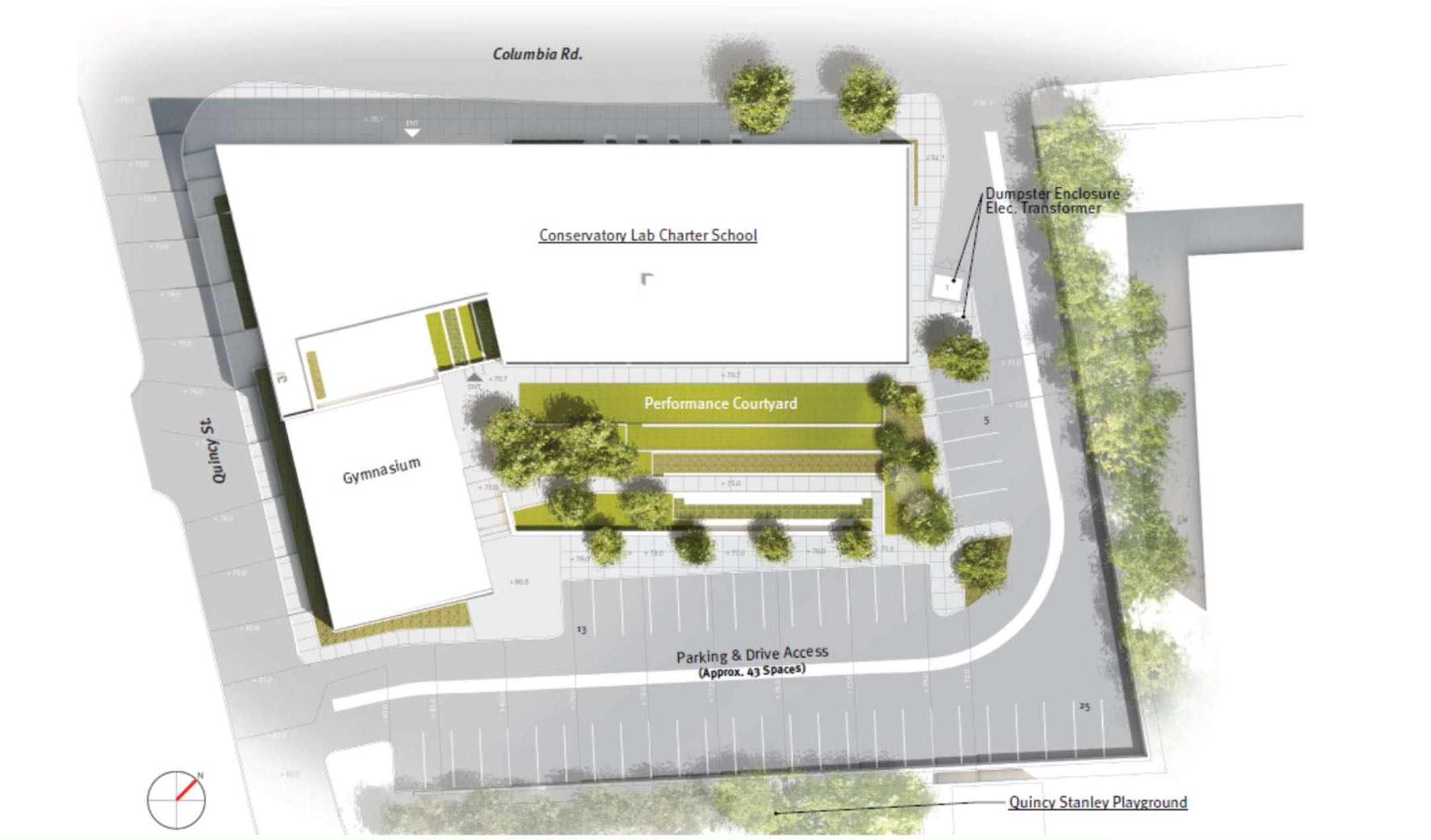 Conservatory lab charter school 395 columbia road dorchester boston proposed academic building
