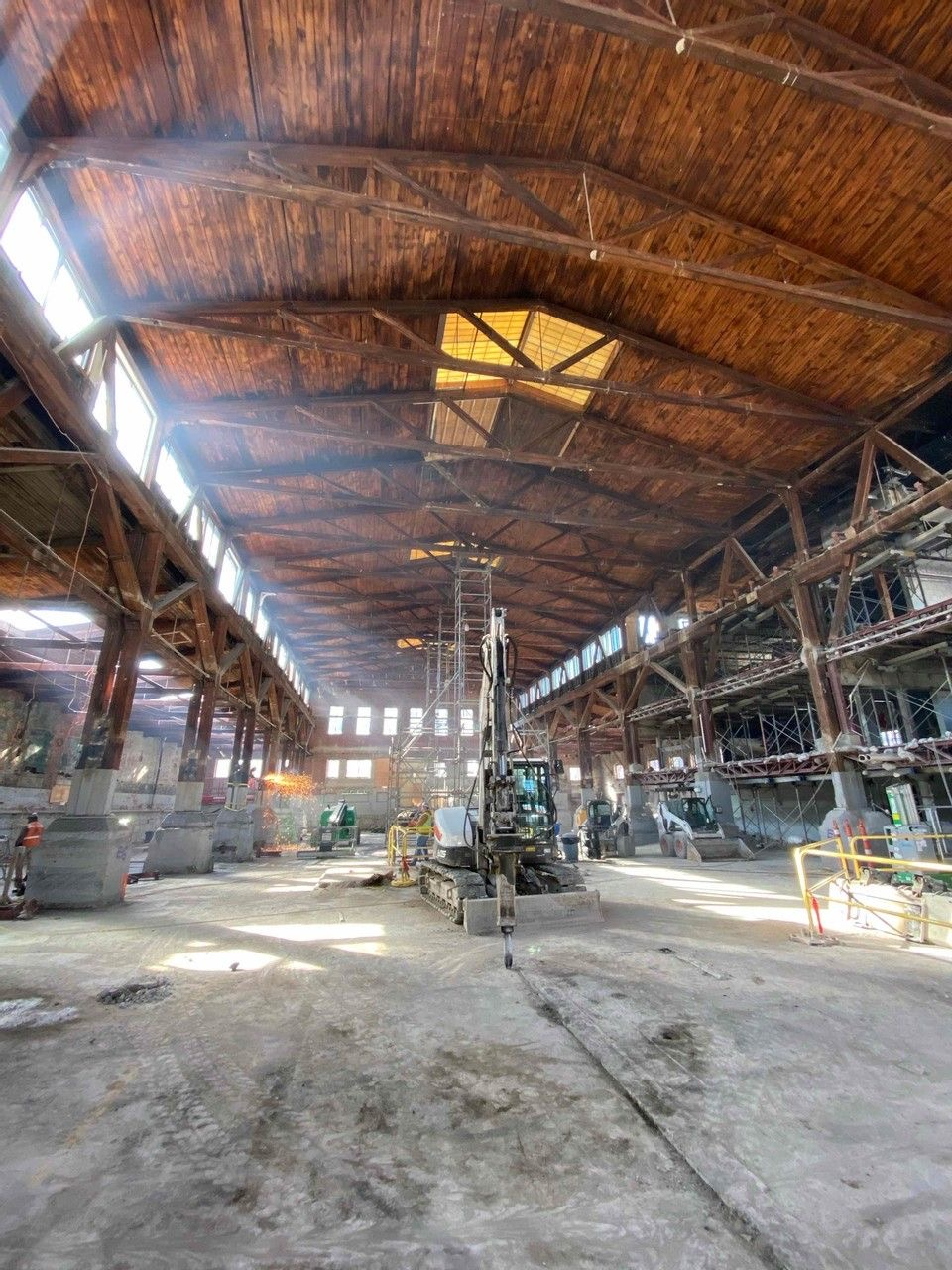 Spatial view of the open hall at The Foundry