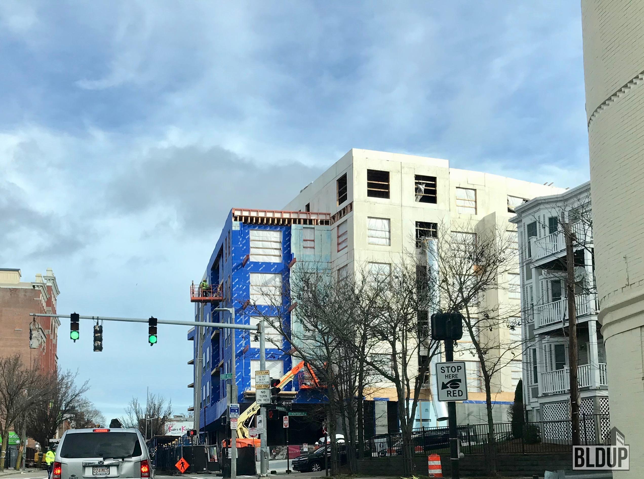 Bldup Construction Continues At 3200 Washington Street In Jp