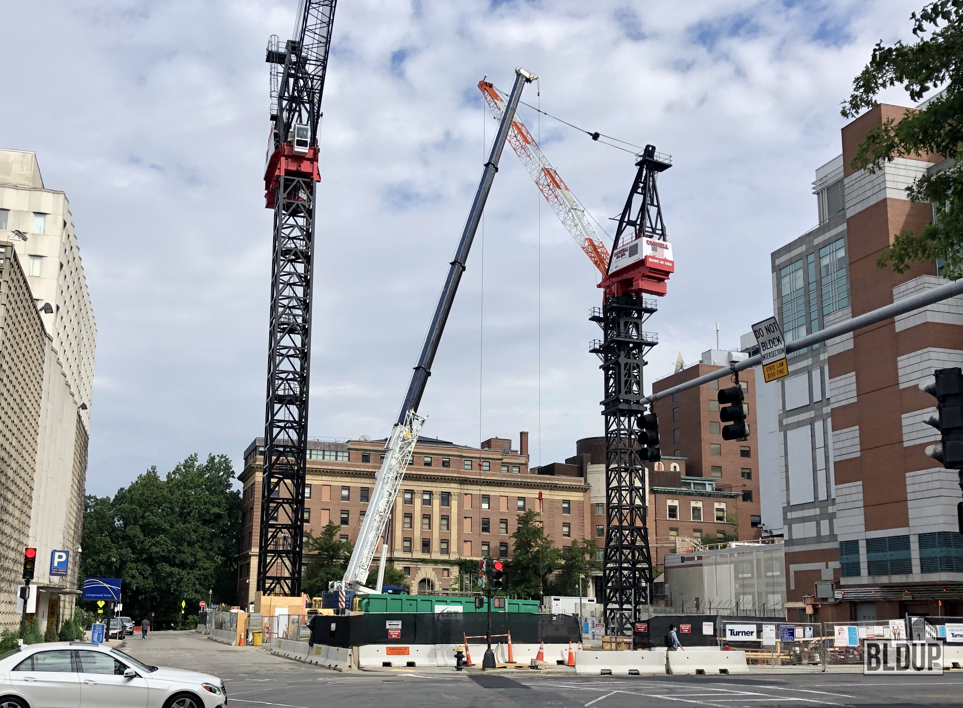 Bldup Cranes In Place For Bidmc New Building