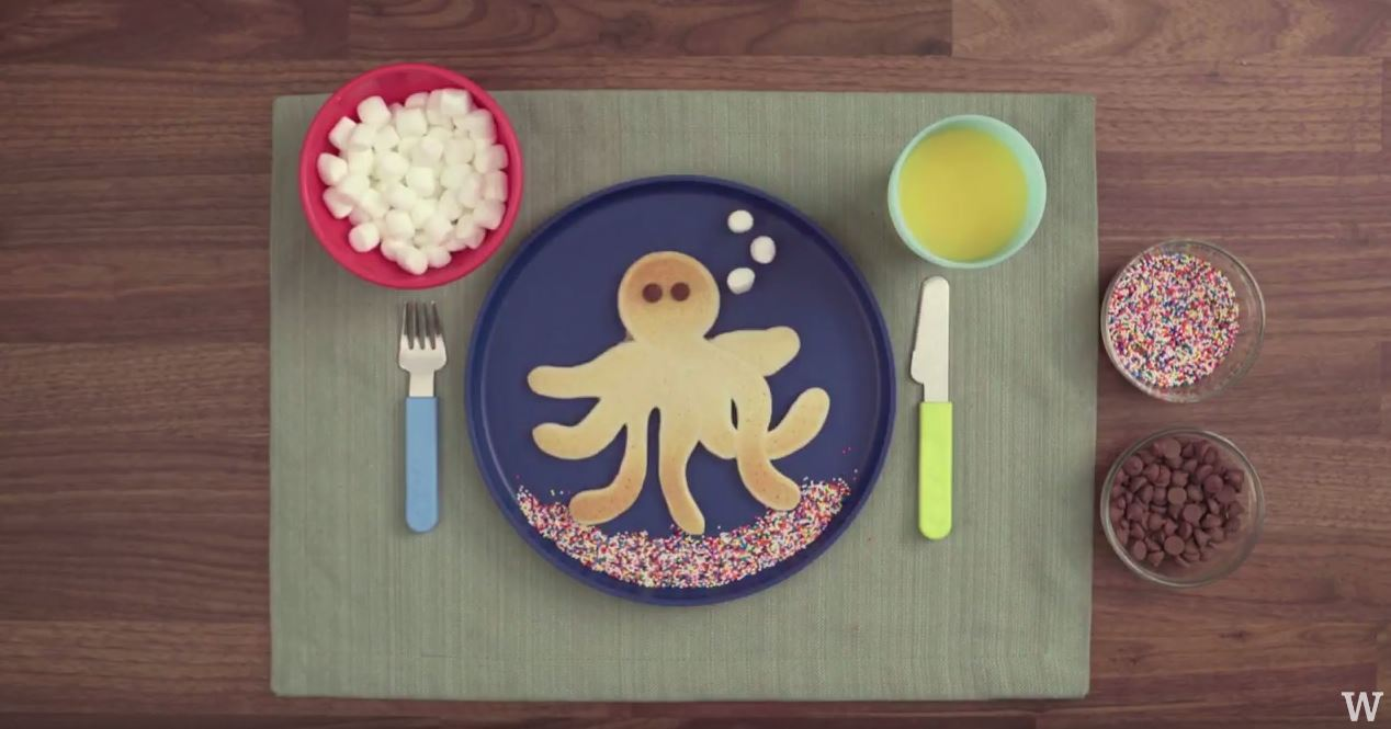 How to make pancake art octopus whiskware an error occurred ccuart Images