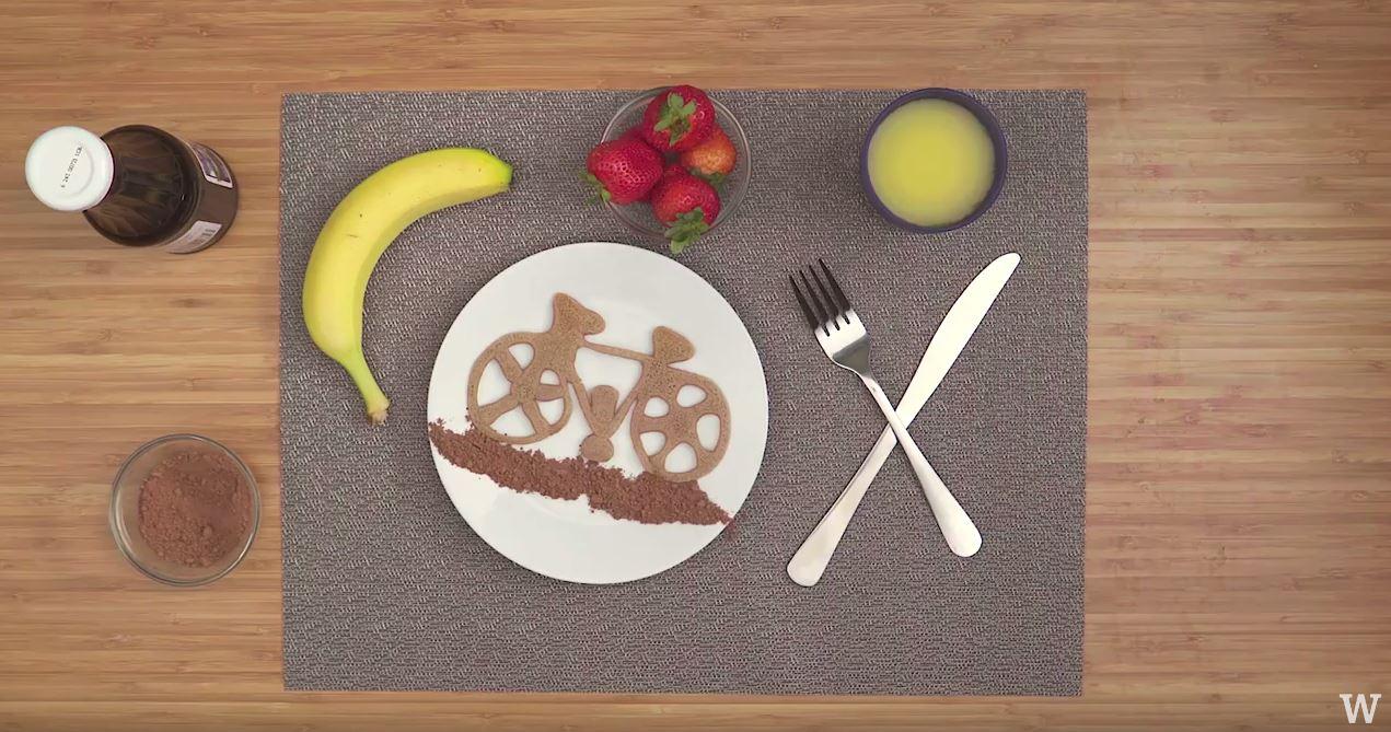 How to make pancake art bicycle whiskware ingredients ccuart Gallery