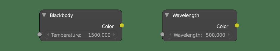 Cycles blackbody wavelength nodes
