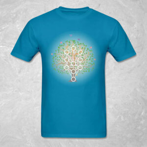 Living Kabbalah - Men's T-Shirt - Teal Blue
