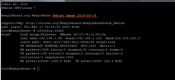 Installing Debian on BeagleBone Black Rev B