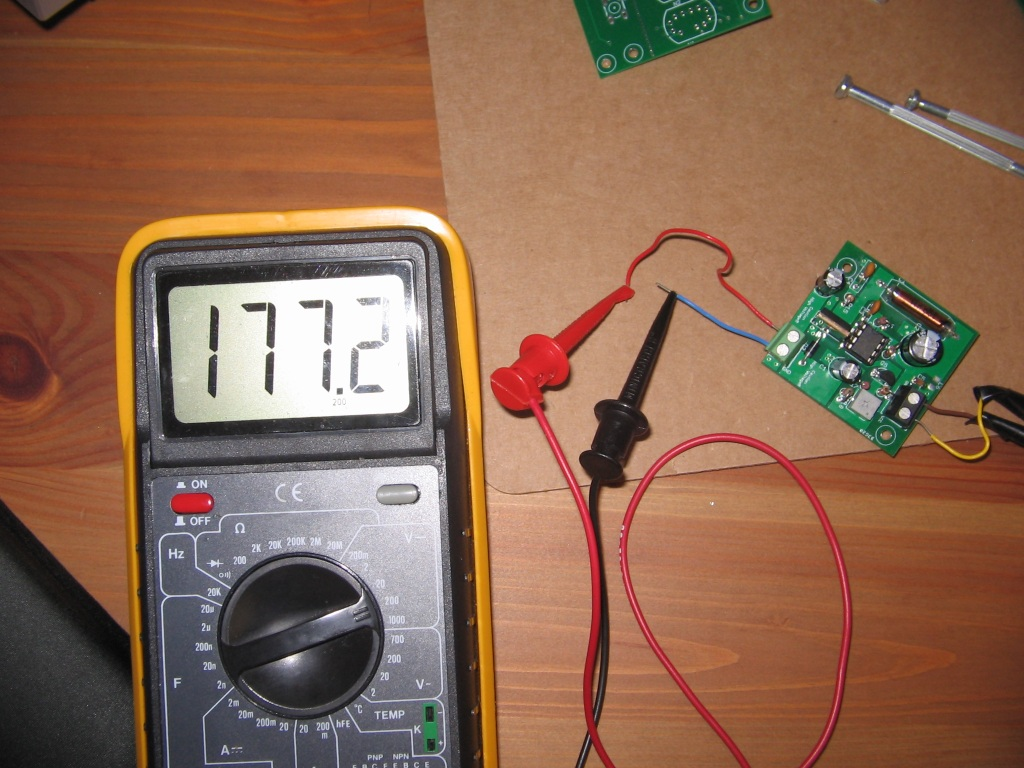 Nixie Tube Xyzio Clock Further On Schematic In My Tests If I Set The Supply To 175v With A 100kohm Load It Stabilizes Around 168v And Will Stay That Way For Several Days Fortunately Tubes Are