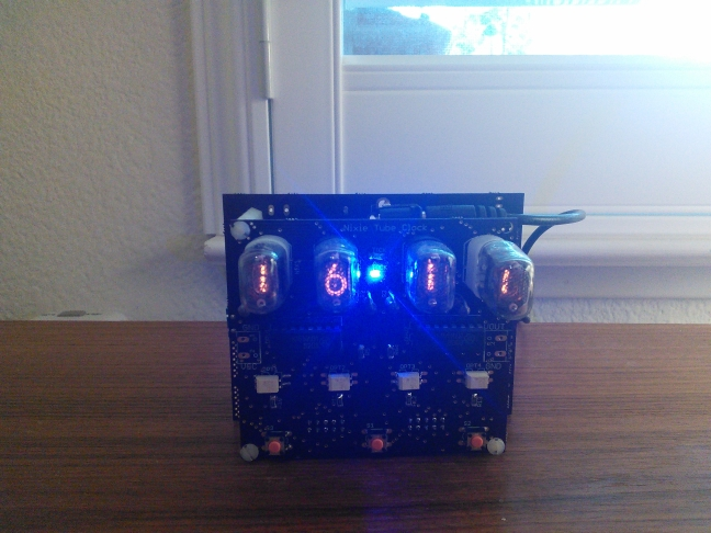 Front of Nixie Tube Clock