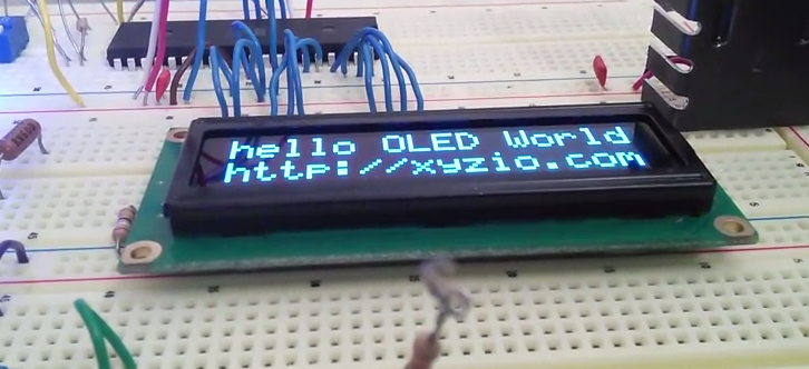 Adafruit 16x2 OLDED display