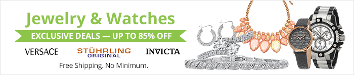 Exclusive deals up to 90% off jewelry and watches