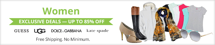 Exclusive deals up to 85% off women's clothing & accessories