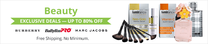 Exclusive deals up to 85% off beauty products