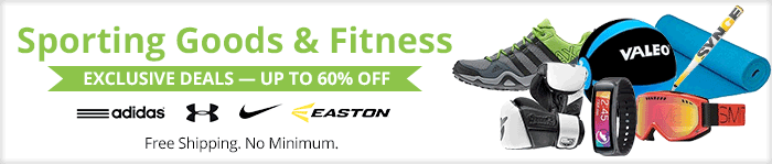 Exclusive deals up to 60% off sporting goods & fitness