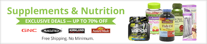 Exclusive deals up to 70% off supplements & nutrition