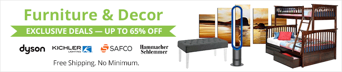 Exclusive deals up to 65% off furniture and decor