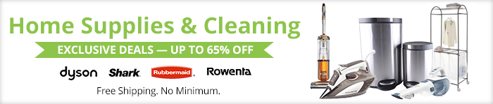 Exclusive deals up to 65% off home supplies & cleaning products
