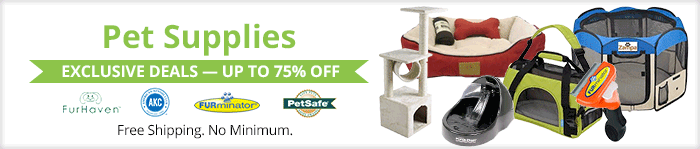 Exclusive deals up to 75% off  pet supplies