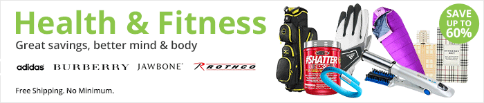 Save up to 60% on Health & Fitness