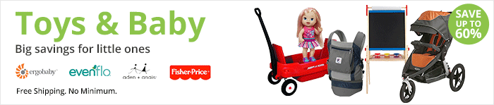 Save up to 60% on toys and baby gear