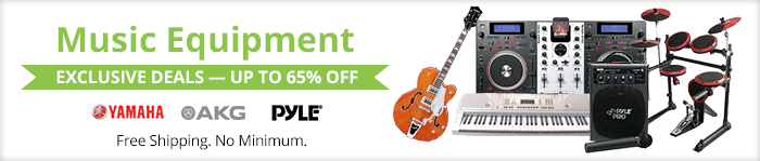 Exclusive deals up to 65% off music equipment