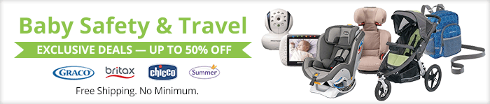 Exclusive deals up to 50% off baby safety & travel gear