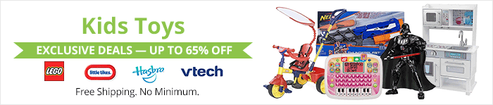 Exclusive deals up to 75% off kids toys
