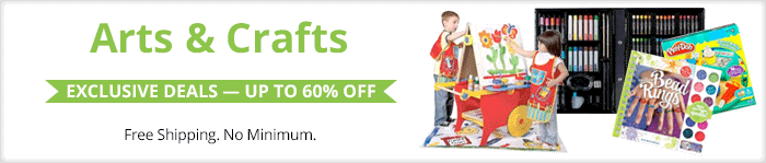 Exclusive deals up to 60% off arts & crafts supplies