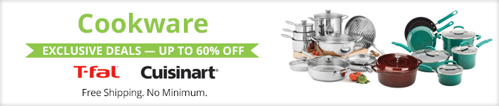 Exclusive deals up to 60% off  cookware