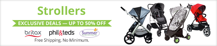 Exclusive deals up to 50% off strollers