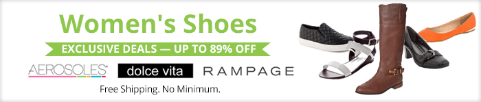 Exclusive deals up to 89% off women's shoes