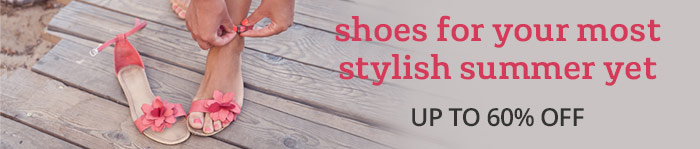 Save up to 60% on women's summer shoes